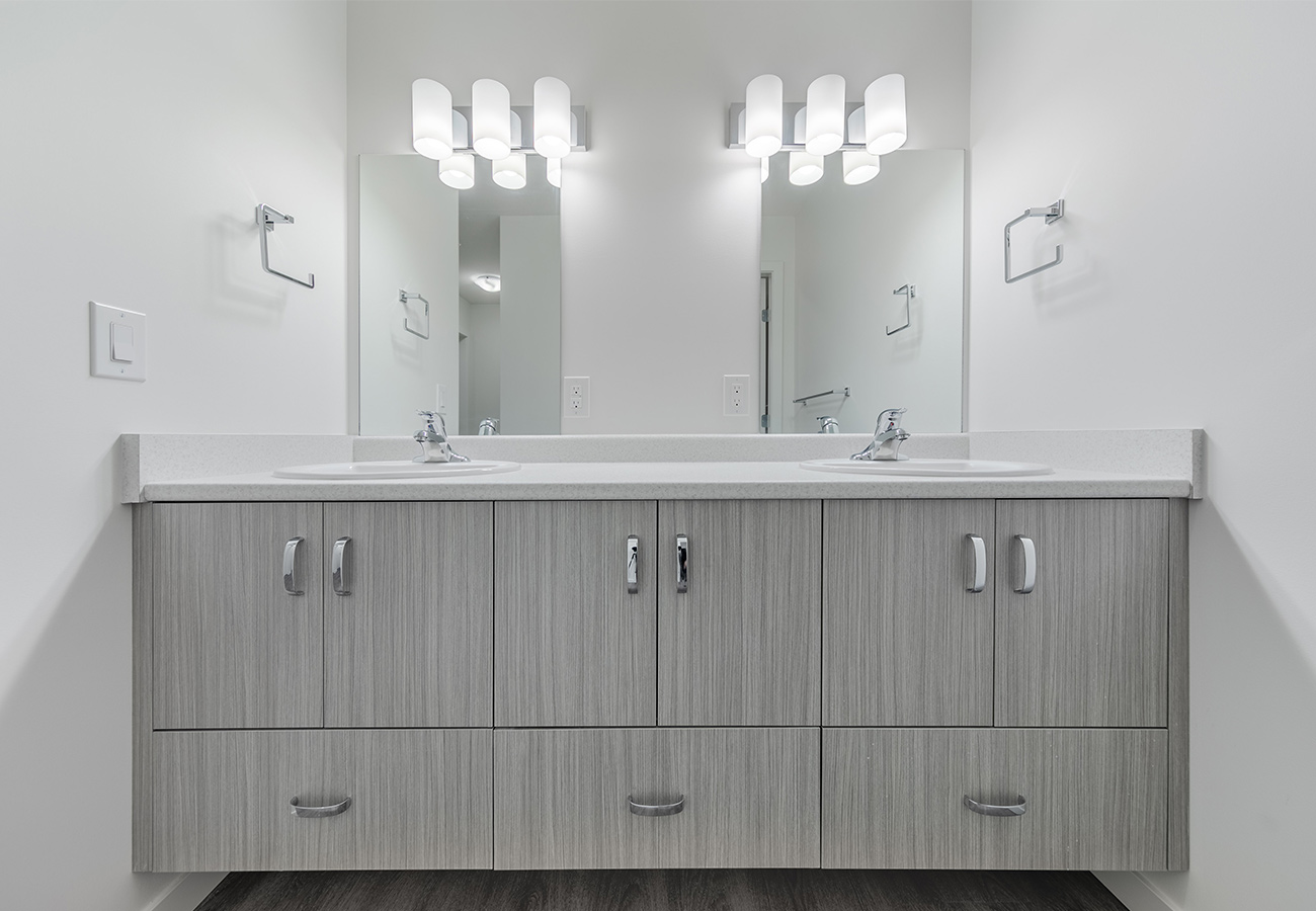 Kelowna Student Residence Bathroom
